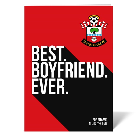 Southampton FC Best Boyfriend Ever Card-Poppy Stop-ITP_GC_A4_UK-Poppy Stop