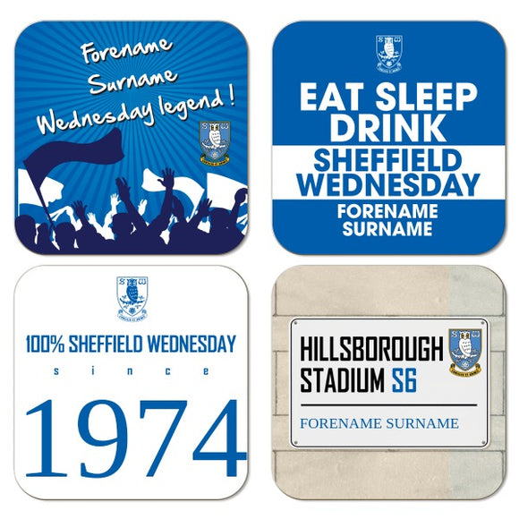 Sheffield Wednesday FC Coasters-Poppy Stop-Poppy Stop
