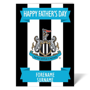 Newcastle United FC Crest Father's Day Card-Poppy Stop-Poppy Stop