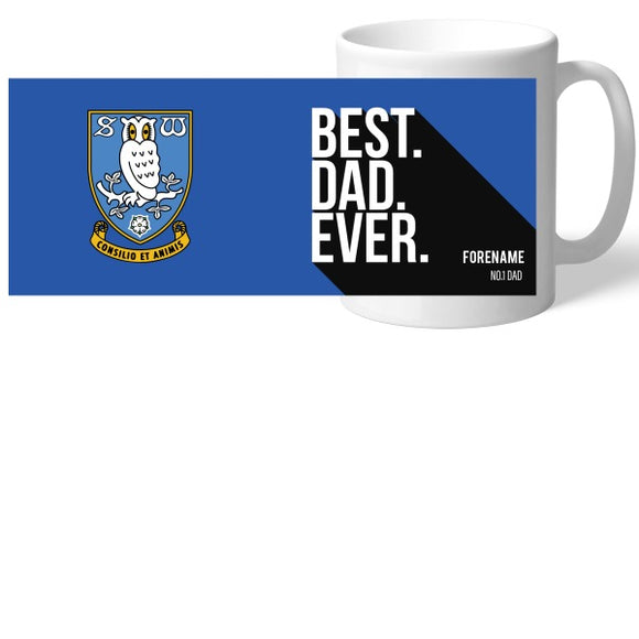 Sheffield Wednesday Best Dad Ever Mug-Poppy Stop-Poppy Stop