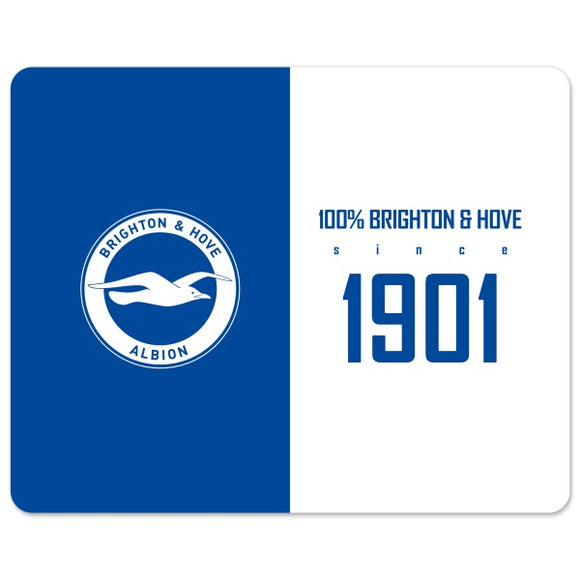 Brighton & Hove Albion FC 100 Percent Mouse Mat-Poppy Stop-Poppy Stop