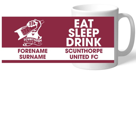 Scunthorpe United FC Eat Sleep Drink Mug-Poppy Stop-Poppy Stop