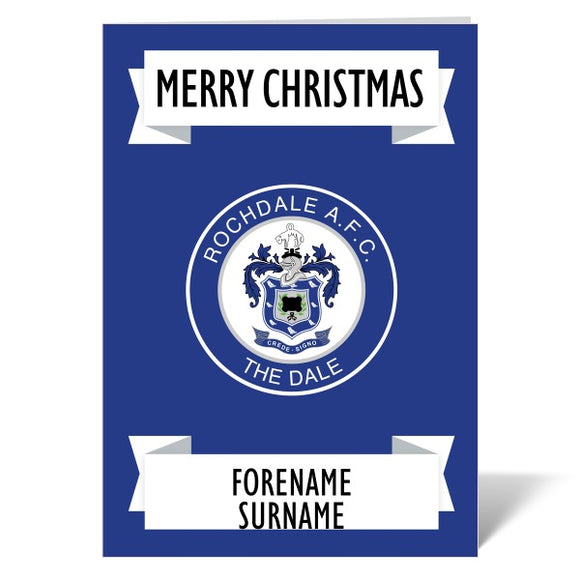 Rochdale AFC Crest Christmas Card-Poppy Stop-ITP_GC_A4_UK-Poppy Stop
