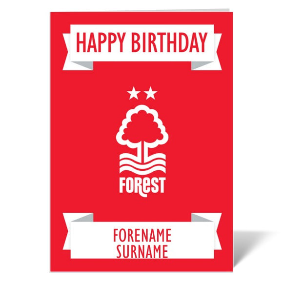 Nottingham Forest FC Crest Birthday Card-Poppy Stop-ITP_GC_A4_UK-Poppy Stop