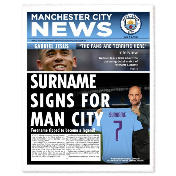 Manchester City FC News Single Page Print-Poppy Stop-Poppy Stop