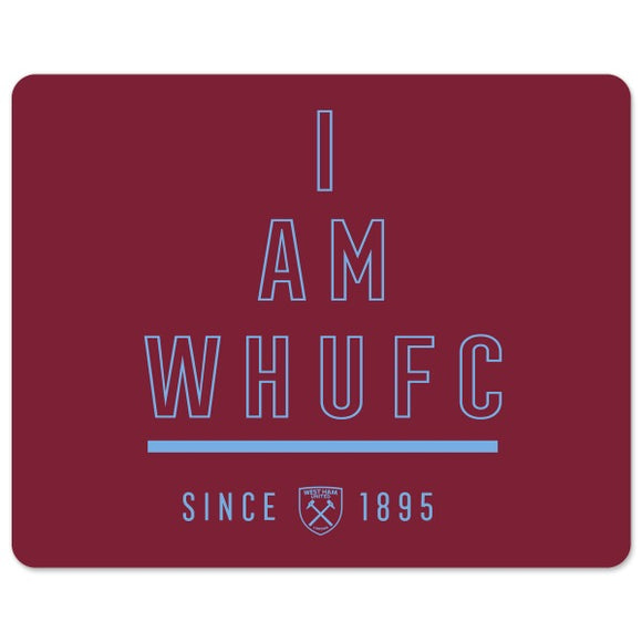 West Ham United FC I Am Mouse Mat-Poppy Stop-Poppy Stop