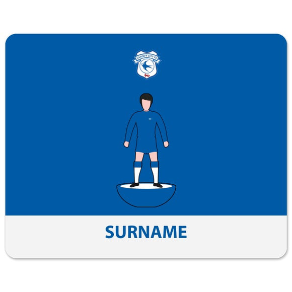 Cardiff City Player Figure Mouse Mat-Poppy Stop-Poppy Stop