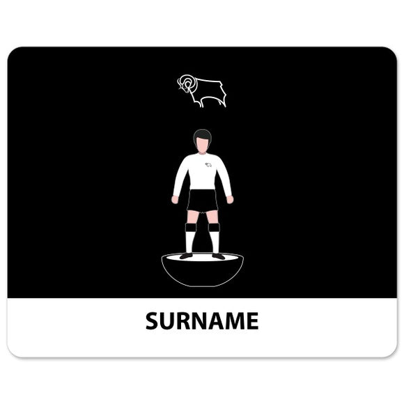 Derby County Player Figure Mouse Mat-Poppy Stop-Poppy Stop