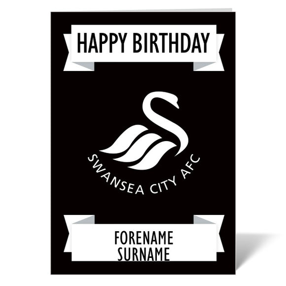 Swansea City AFC Crest Birthday Card-Poppy Stop-ITP_GC_A4_UK-Poppy Stop
