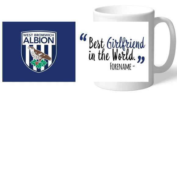 West Bromwich Albion FC Best Girlfriend In The World Mug-Poppy Stop-Poppy Stop