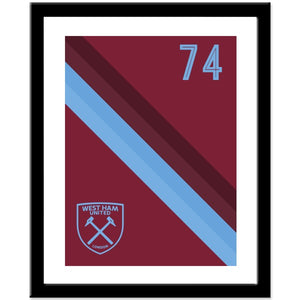West Ham United FC Stripe Print-Poppy Stop-Poppy Stop