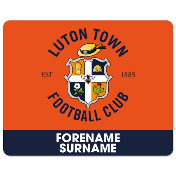 Luton Town FC Bold Crest Mouse Mat-Poppy Stop-Poppy Stop