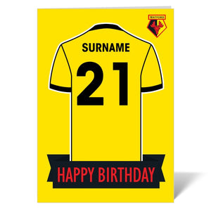 Watford FC Shirt Birthday Card-Poppy Stop-ITP_GC_A4_UK-Poppy Stop