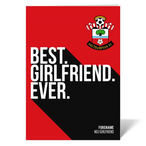 Southampton FC Best Girlfriend Ever Card-Poppy Stop-ITP_GC_A4_UK-Poppy Stop