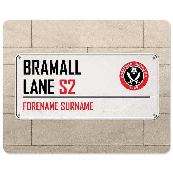 Sheffield United FC Street Sign Mouse Mat-Poppy Stop-Poppy Stop