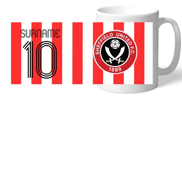 Sheffield United FC Retro Shirt Mug-Poppy Stop-Poppy Stop