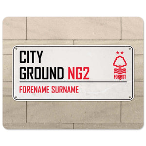 Nottingham Forest FC Street Sign Mouse Mat-Poppy Stop-Poppy Stop