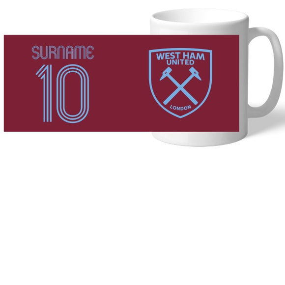 West Ham United FC Retro Shirt Mug-Poppy Stop-Poppy Stop