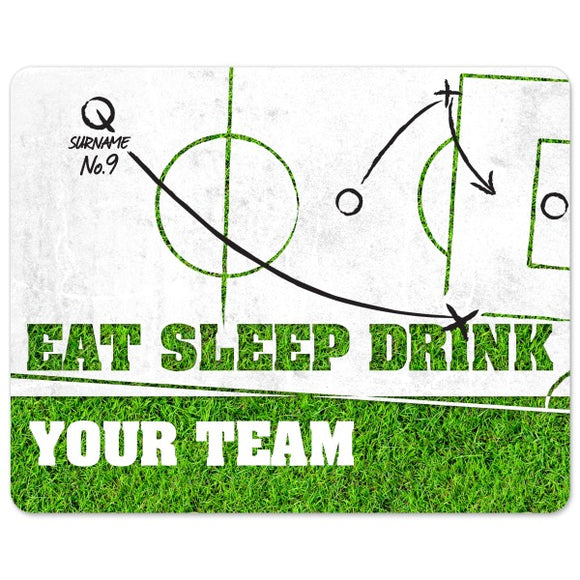 Personalised Eat Sleep Drink Football Mouse Mat-Poppy Stop-Poppy Stop