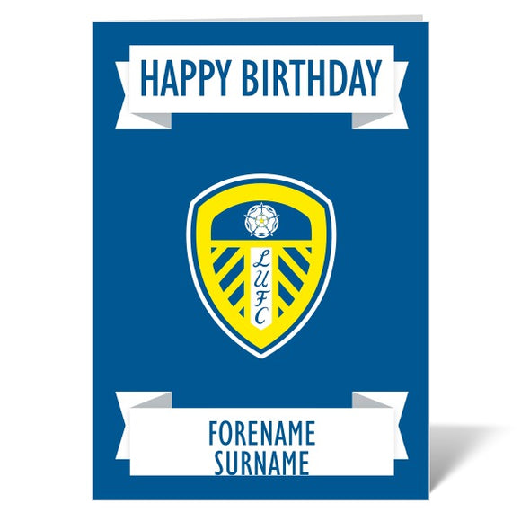 Leeds United FC Crest Birthday Card-Poppy Stop-ITP_GC_A4_UK-Poppy Stop