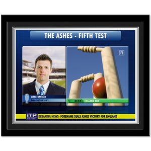 Personalised Cricket Photo Frame-Poppy Stop-Poppy Stop