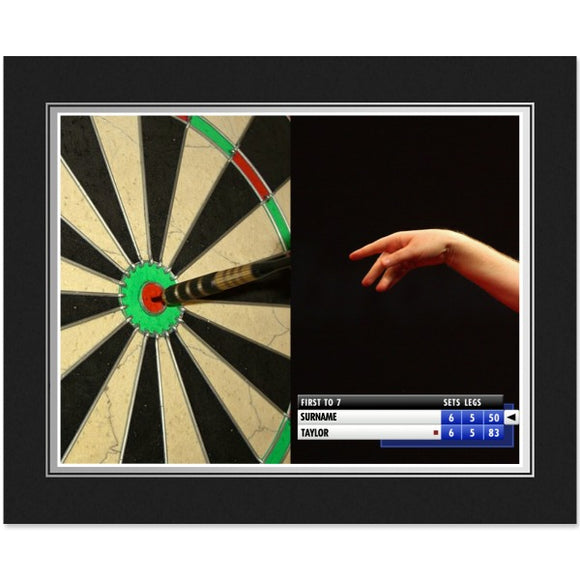 Personalised Darts Photo Folder-Poppy Stop-Poppy Stop