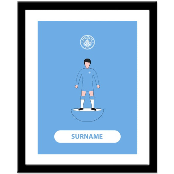 Manchester City FC Player Figure Print-Poppy Stop-Poppy Stop
