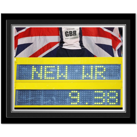 Personalised Athletics Photo Frame-Poppy Stop-Poppy Stop