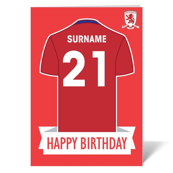 Middlesbrough FC Shirt Birthday Card-Poppy Stop-ITP_GC_A4_UK-Poppy Stop