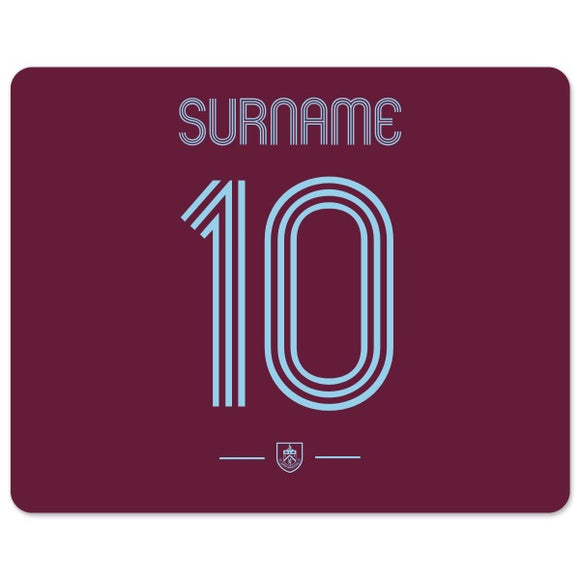 Burnley FC Retro Shirt Mouse Mat-Poppy Stop-Poppy Stop