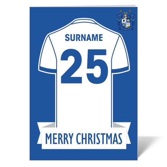 Bury FC Shirt Christmas Card-Poppy Stop-ITP_GC_A4_UK-Poppy Stop