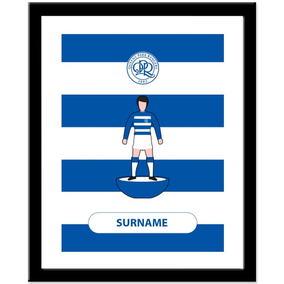 Queens Park Rangers FC Player Figure Print-Poppy Stop-Poppy Stop