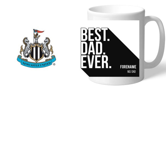 Newcastle United FC Best Dad Ever Mug-Poppy Stop-Poppy Stop