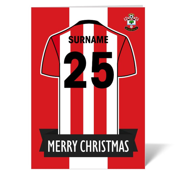 Southampton FC Shirt Christmas Card-Poppy Stop-ITP_GC_A4_UK-Poppy Stop