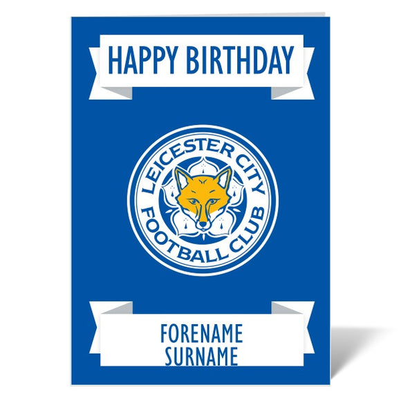 Leicester City FC Crest Birthday Card-Poppy Stop-ITP_GC_A4_UK-Poppy Stop