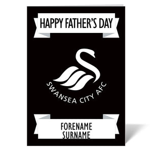 Swansea City AFC Crest Father's Day Card-Poppy Stop-ITP_GC_A4_UK-Poppy Stop