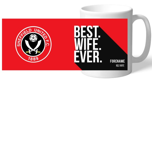 Sheffield United Best Wife Ever Mug-Poppy Stop-Poppy Stop