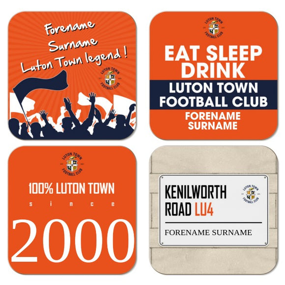 Luton Town FC Coasters-Poppy Stop-Poppy Stop