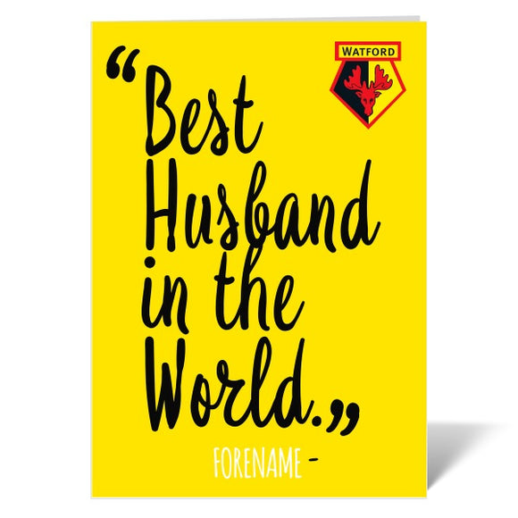 Watford FC Best Husband In The World Card-Poppy Stop-ITP_GC_A4_UK-Poppy Stop