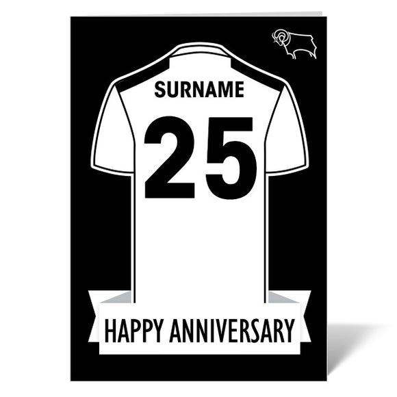 Derby County Shirt Anniversary Card-Poppy Stop-ITP_GC_A4_UK-Poppy Stop