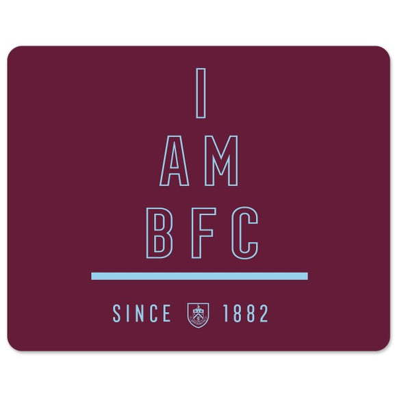 Burnley FC I Am Mouse Mat-Poppy Stop-Poppy Stop