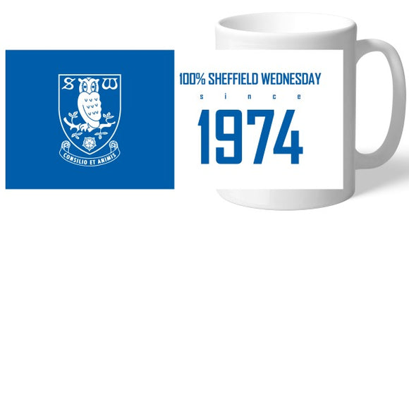 Sheffield Wednesday FC 100 Percent Mug-Poppy Stop-Poppy Stop