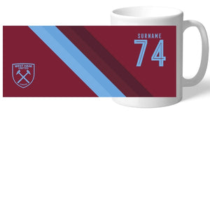 West Ham United FC Stripe Mug-Poppy Stop-Poppy Stop