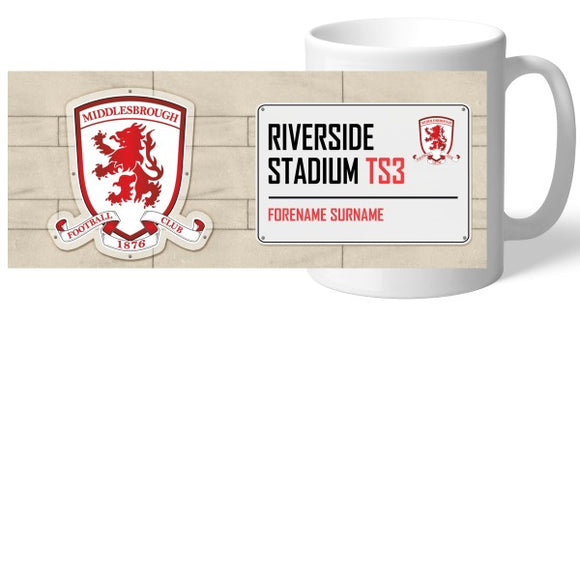Middlesbrough FC Street Sign Mug-Poppy Stop-Poppy Stop