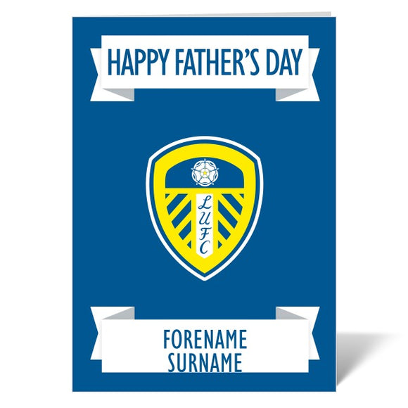Leeds United FC Crest Father's Day Card-Poppy Stop-ITP_GC_A4_UK-Poppy Stop
