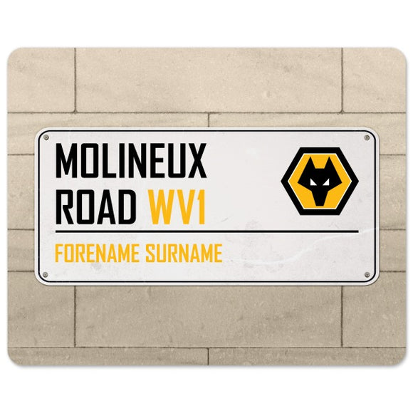 Wolves Street Sign Mouse Mat-Poppy Stop-Poppy Stop