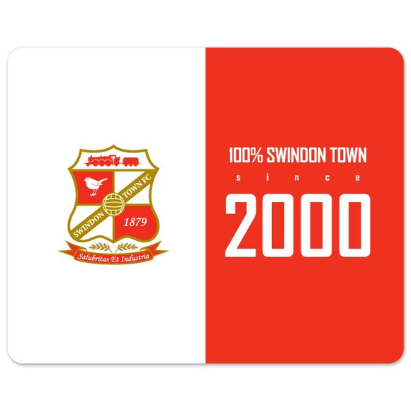 Swindon Town 100 Percent Mouse Mat-Poppy Stop-Poppy Stop