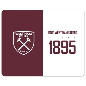 West Ham United FC 100 Percent Mouse Mat-Poppy Stop-Poppy Stop