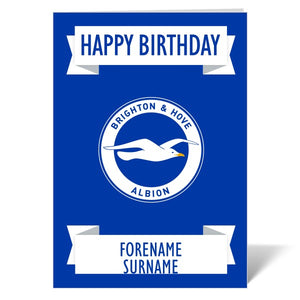 Brighton & Hove Albion FC Crest Birthday Card-Poppy Stop-ITP_GC_A4_UK-Poppy Stop