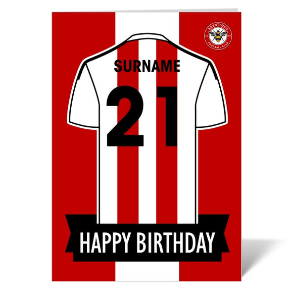 Brentford FC Shirt Birthday Card-Poppy Stop-ITP_GC_A4_UK-Poppy Stop